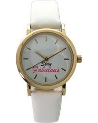 Olivia Pratt - Stay Fabulous Leather Strap Watch - Lyst