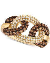 Le Vian - Chocolatier® Diamond Interlocking Loop Ring (1-1/10 Ct. T.w.) In 14k Gold - Lyst