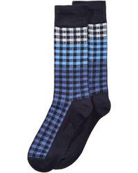 Perry Ellis - Superior Soft Plaid Dress Socks - Lyst