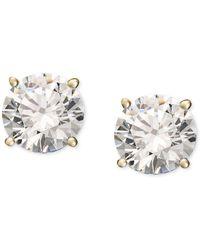 Macy's - Diamond Stud Earrings (1/5 Ct. T.w.) In 14k White Or Yellow Gold - Lyst