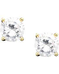 Giani Bernini - 18k Gold Over Sterling Silver Cubic Zirconia Stud Earrings (1 Ct. T.w.) - Lyst