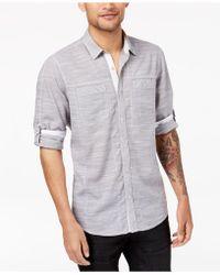 INC International Concepts - Men's Chambray Shirt - Lyst