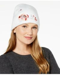 INC International Concepts - Floral Embroidered Beanie - Lyst
