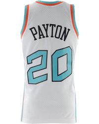 8a2ec635500 Mitchell & Ness Gary Payton Seattle Supersonics Name And Number Mesh  Crewneck Jersey in Green for Men - Lyst