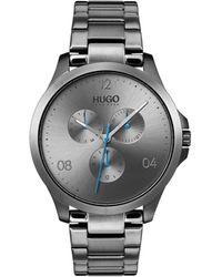 BOSS - #risk Gray Stainless Steel Bracelet Watch 41mm - Lyst
