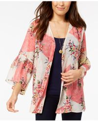 Style & Co. - Printed Bell-sleeve Kimono, Created For Macy's - Lyst