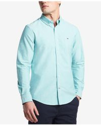 Tommy Hilfiger - Custom Fit New England Solid Oxford Shirt, Created For Macy's - Lyst