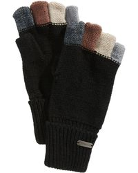 Steve Madden - Colorblocked Fingerless Boyfriend Gloves - Lyst