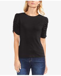 Vince Camuto - Ruched-sleeve Top - Lyst