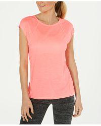 Calvin Klein - Performance Cap-sleeve Crisscross Back T-shirt - Lyst