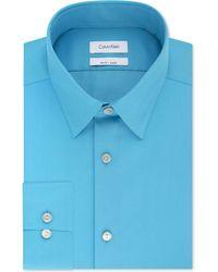 Calvin Klein - Slim-fit Performance Non-iron Stretch Infinite Color Dress Shirt - Lyst