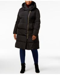 Cole Haan - Signature Plus Size Pillow-collar Heavyweight Puffer Coat - Lyst