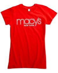 Macy's - Rhinestone Logo T-shirt - Lyst
