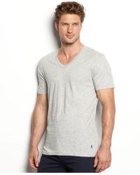5a9b8df5ff7e5 Polo ralph lauren Men s Slim-fit Classic Cotton V-neck T-shirt 3-pack in  Black for Men
