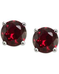 Giani Bernini - Cubic Zirconia Stud Earrings In Sterling Silver, Created For Macy's - Lyst