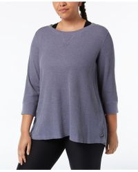 Calvin Klein - Performance Plus Size Lace-up Back Top - Lyst