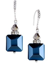 INC International Concepts | Earrings, Silver-tone Jet Square Bead Drop Earrings | Lyst