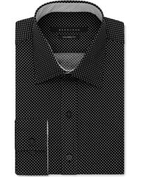 Sean John - Men's Black And White Patterned Classic-fit Dress Shirt - Lyst