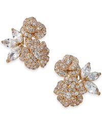 Kate Spade - Crystal Flower Stud Earrings - Lyst