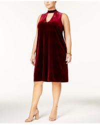 Soprano - Plus Size Velvet Choker Dress - Lyst