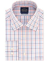 0d9428835 Eagle - Classic/regular-fit Non-iron Orange/blue Check Dress Shirt