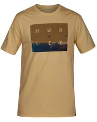 Hurley - Breaking Set Graphic Cotton T-shirt - Lyst