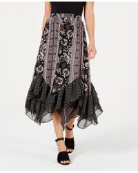Style & Co. - Tiered Handkerchief-hem Boho Skirt, Created For Macy's - Lyst