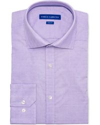 Vince Camuto - Slim-fit Comfort Stretch Amethyst Geo Dobby Dress Shirt - Lyst