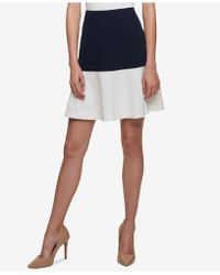 Tommy Hilfiger - Colorblocked Swing Skirt - Lyst