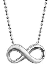 Alex Woo - Infinity Pendant Necklace In Sterling Silver - Lyst