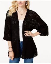 Style & Co. - Kimono-sleeve Pointelle-knit Cardigan, Created For Macy's - Lyst