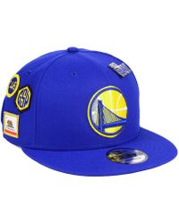 pretty nice 05766 ef6ca KTZ Golden State Warriors Classic Script 59fifty Fitted Cap in Blue for Men  - Lyst