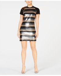 Laundry by Shelli Segal - Sequined Shift Dress - Lyst