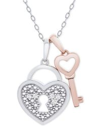 7275fbd9c Macy's - Diamond Accent Heart Lock & Key 18