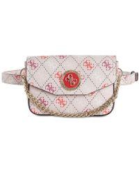 ec13f0cab6 Lyst - Guess Varsity Pop Mini Belt Bag in Black