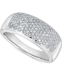 Macy's - Diamond (1/2 Ct. T.w.) Wave Band In 14k White Gold - Lyst