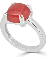 Macy's - Red Agate Curved Claw Ring In Sterling Silver - Lyst
