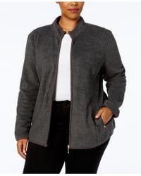 22f7af4f4283f Karen Scott - Plus Size Zeroproof Fleece Jacket