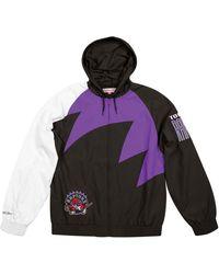 7260313c9b8 Lyst - Mitchell   Ness Men s Team History Warm Up Jacket in Black ...