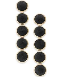 INC International Concepts - I.n.c. Gold-tone Fabric Button Drop Earrings, Created For Macy's - Lyst