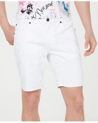 INC International Concepts - White Cuffed Denim Shorts - Lyst