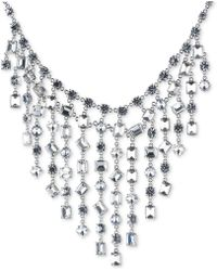 Carolee | Silver-tone Bezel-set Crystal Statement Necklace | Lyst