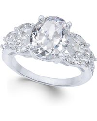 Charter Club - Silver-tone Triple-cubic Zirconia Ring - Lyst
