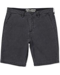Billabong - New Order X Overdye Shorts - Lyst