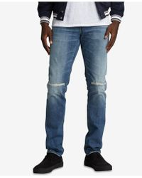Silver Jeans Co. - Taavi Slim Fit Stretch Ripped Jeans - Lyst