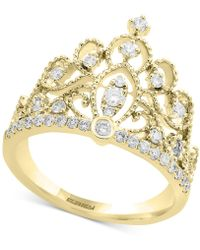 Effy Collection Diamond Crown Statement Ring (3/8 Ct. T.w.) In 14k Gold - Metallic