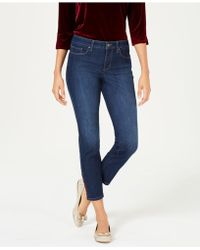 Charter Club - Lace-up-hem Capri Jeans, Created For Macy's - Lyst