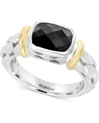 Effy Collection - Balissima By Effy® Onyx (9 X 7mm) Two-tone Ring In Sterling Silver & 18k Gold - Lyst