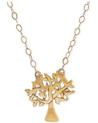 """Macy's - Tiny Tree Of Life 17"""" Pendant Necklace In 10k Gold - Lyst"""