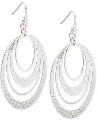 Macy's - Multi-ring Gypsy Hoop Earrings In Sterling Silver - Lyst